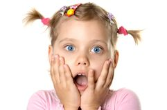 Surprised girl Royalty Free Stock Image