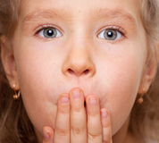Surprised girl Royalty Free Stock Images