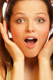 Surprised girl. Stock Image
