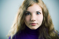 Surprised girl. Stock Photography