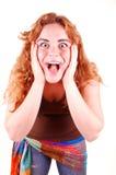 Surprised Girl. Stock Photos