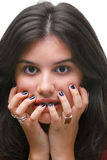 Surprised girl Stock Photography