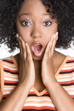 Surprised Girl. Young surprised african american girl Stock Image