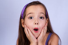 Surprised girl. Beautiful astonishment and surprised girl Stock Photography