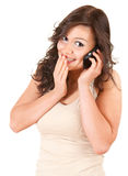 surprised girl on the phone Royalty Free Stock Photo