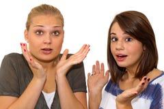 Surprised girls Stock Photos