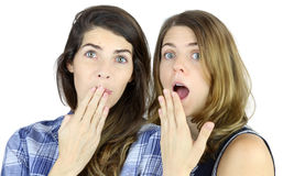 Surprised Girls Stock Images