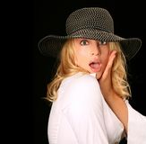 Surprised Glamourous Model Royalty Free Stock Photography