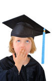 Surprised graduate student Royalty Free Stock Images