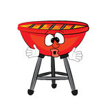 Surprised grill cartoon Royalty Free Stock Photo