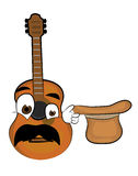 Surprised guitar cartoon Royalty Free Stock Images