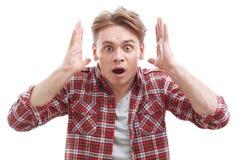 Free Surprised Guy Showing Wonder Royalty Free Stock Images - 55305289
