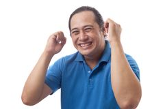 Surprised Happy Asian Man stock photography