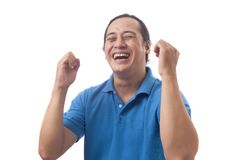 Surprised Happy Asian Man stock image