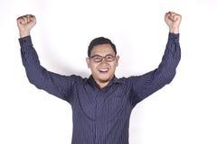 Surprised Happy Asian Man stock photos