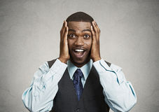 Free Surprised, Happy Businessman Stock Photography - 48010042