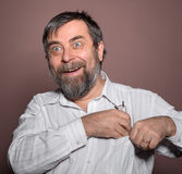 Surprised happy man Stock Photography