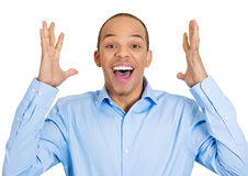 Surprised happy man Royalty Free Stock Photo