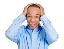 Surprised happy man Royalty Free Stock Image