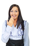 Surprised happy woman Royalty Free Stock Photo
