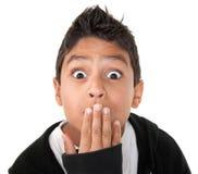 Surprised Hispanic boy Stock Photography