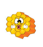 Surprised honeycomb cartoon Royalty Free Stock Photography