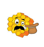 Surprised honeycomb cartoon Royalty Free Stock Photo