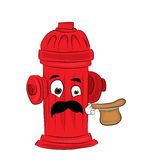 Surprised hydrant cartoon Royalty Free Stock Image