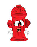 Surprised hydrant cartoon Royalty Free Stock Photos