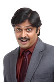 Surprised Indian business man portrait Stock Images