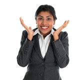 Surprised. Indian businesswoman Stock Image