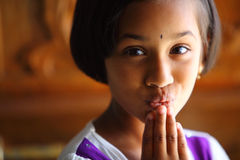 Surprised Indian cute girl Royalty Free Stock Photo