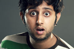Surprised Indian young man Royalty Free Stock Photo