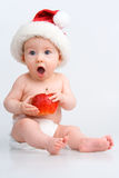 Surprised infant Royalty Free Stock Photo