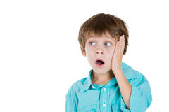 A surprised innocent kid Royalty Free Stock Photography