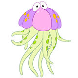 Surprised jellyfish Royalty Free Stock Photo