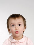 Surprised joyful baby girl Royalty Free Stock Photo