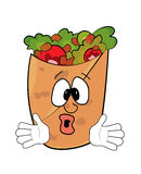 Surprised kebab cartoon Royalty Free Stock Images