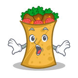 Surprised kebab wrap character cartoon. Vector illustration royalty free illustration