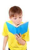 Surprised Kid with the Book Stock Image