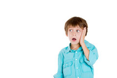 A surprised kid with palm on face Royalty Free Stock Photo