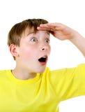 Surprised Kid Portrait Stock Photo