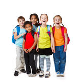 Surprised kids crowd. In colorful t-shirts Stock Image