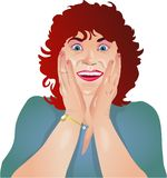 Surprised Lady. Lady with a surprised expression Royalty Free Stock Images