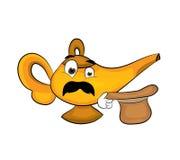 Surprised lamp cartoon Stock Image