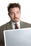 Surprised Laptop Man Stock Image