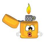 Surprised lighter cartoon Stock Image