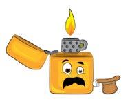 Surprised lighter cartoon Stock Photos