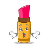 Surprised lipstick character cartoon style Royalty Free Stock Images