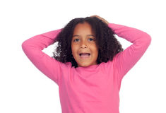 Surprised little african girl Royalty Free Stock Photo